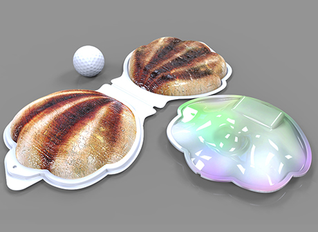 3D Rendering: Clamshell Promo Concept
